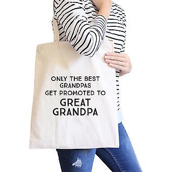 Forfremmet til store bestefar naturlig tunge bomull lerret Tote Bag gave