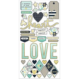 Simple Sets Heart Cardstock Stickers 6