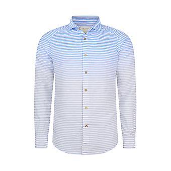 Fabio Giovanni Rovita Shirt - Luxurious Italian Linen & Cotton Blend - Dip-Dyed Look