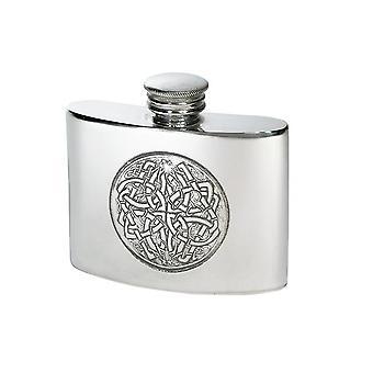 Keltisch geprägte kleine Zinn Flachmann - 2oz