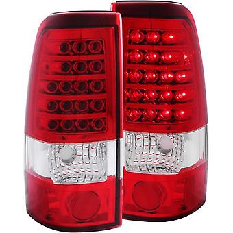 Anzo USA 311010 Chevrolet/GMC Red/Clear LED Tail Light Assembly - (Sold in Pairs)