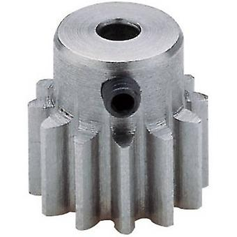 Steel cogwheel Reely Module Type: 1.0 Bore diameter: 3.2 mm No. of teeth: 12