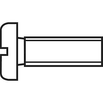 TOOLCRAFT 828789 Allen screws M1.6 10 mm Slot DIN 84 ISO 1207 Steel 20 pc(s)