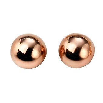 Elements Gold Ball Stud Earrings - Rose Gold