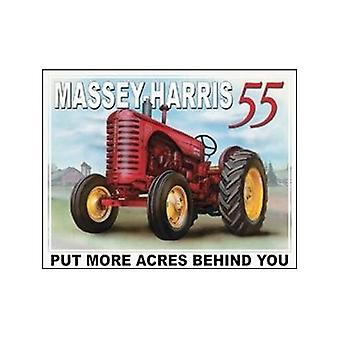 Massey Harris 55 Tractor Metal Sign