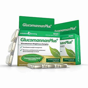 Glucomannan Plus Konjac Appetite Suppressant Capsules - 20 Day Supply (60 Capsules) - Appetite Control - Evolution Slimming