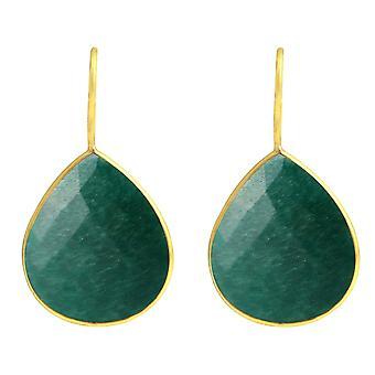 Gemshine Women's Earrings 925 Silver Plated Emerald Green CANDY Drops