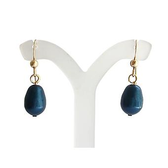Shell core Pearl Earring MK Pearl blue drop earrings gold plated