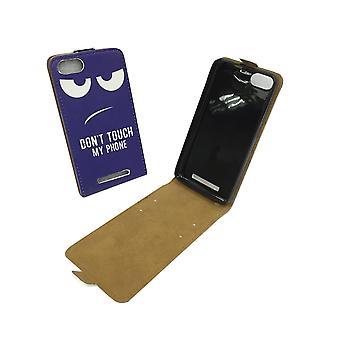 Handyhülle Tasche für Handy Wiko Lenny 3 Dont Touch my Phone