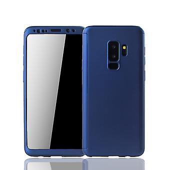 Samsung Galaxy S9 plus mobile shell Schutzcase fuld dækning 360 display beskyttelse folie blå