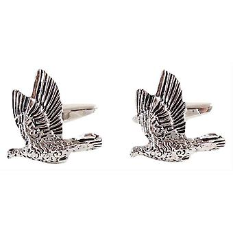 David Van Hagen Game Bird Cufflinks - Silver
