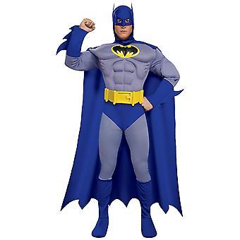 Batman Deluxe mięsień niebieski odważny i śmiały Superhero kostium męskie
