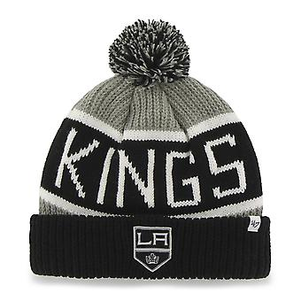 47 fire Knit Beanie - Calgary Los Angeles Kings grey