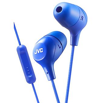 JVC HAFX38MA Marshmallow Custom Fit In-Ear Earphone with Remote & Mic - Blue