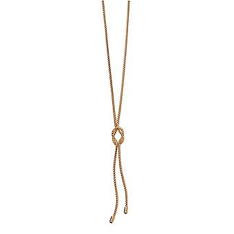 Elements Gold Rope Knot Lariat Necklace - Gold