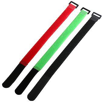 TRIXES 9 x farbige verstellbare Haken und Flausch 11/28 cm-Kabel verbindet Riemen