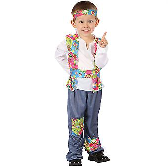 Bnov Hippy Boy All-In -One Costume with Headband
