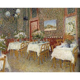 Interieur of a restaurant, Vincent Van Gogh, 60x50cm