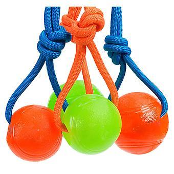 Bal met touw, TPR 8 cm