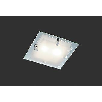 Trio Lighting Espejo Modern Chrome Glass Ceiling Lamp