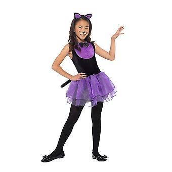 Disfraz gato, disfraces de Halloween infantil, medio edad 7-9