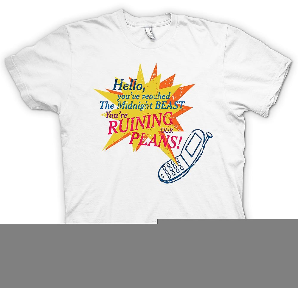 Mens T-shirt - Hello You�ve Reached The Midnight Beast - Your Ruining Our Plans
