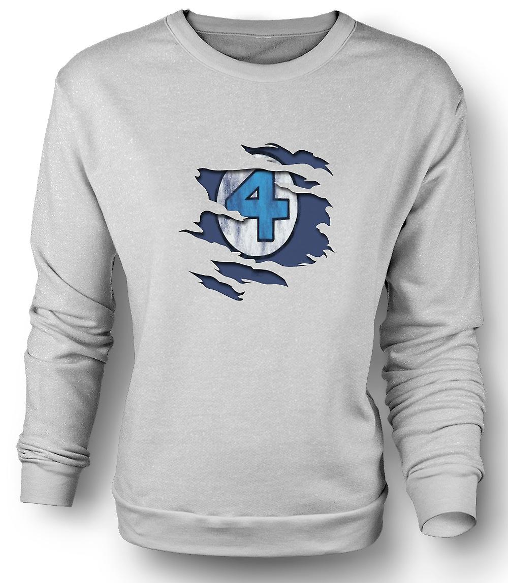 Mens Sweatshirt Fantastic 4 - Ripped Effect