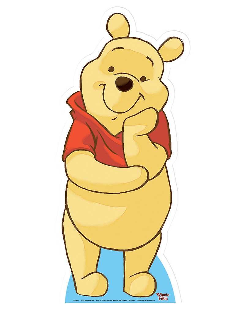 Nalle på Puh (Disney) - Lifesize kartong släppandet / stående