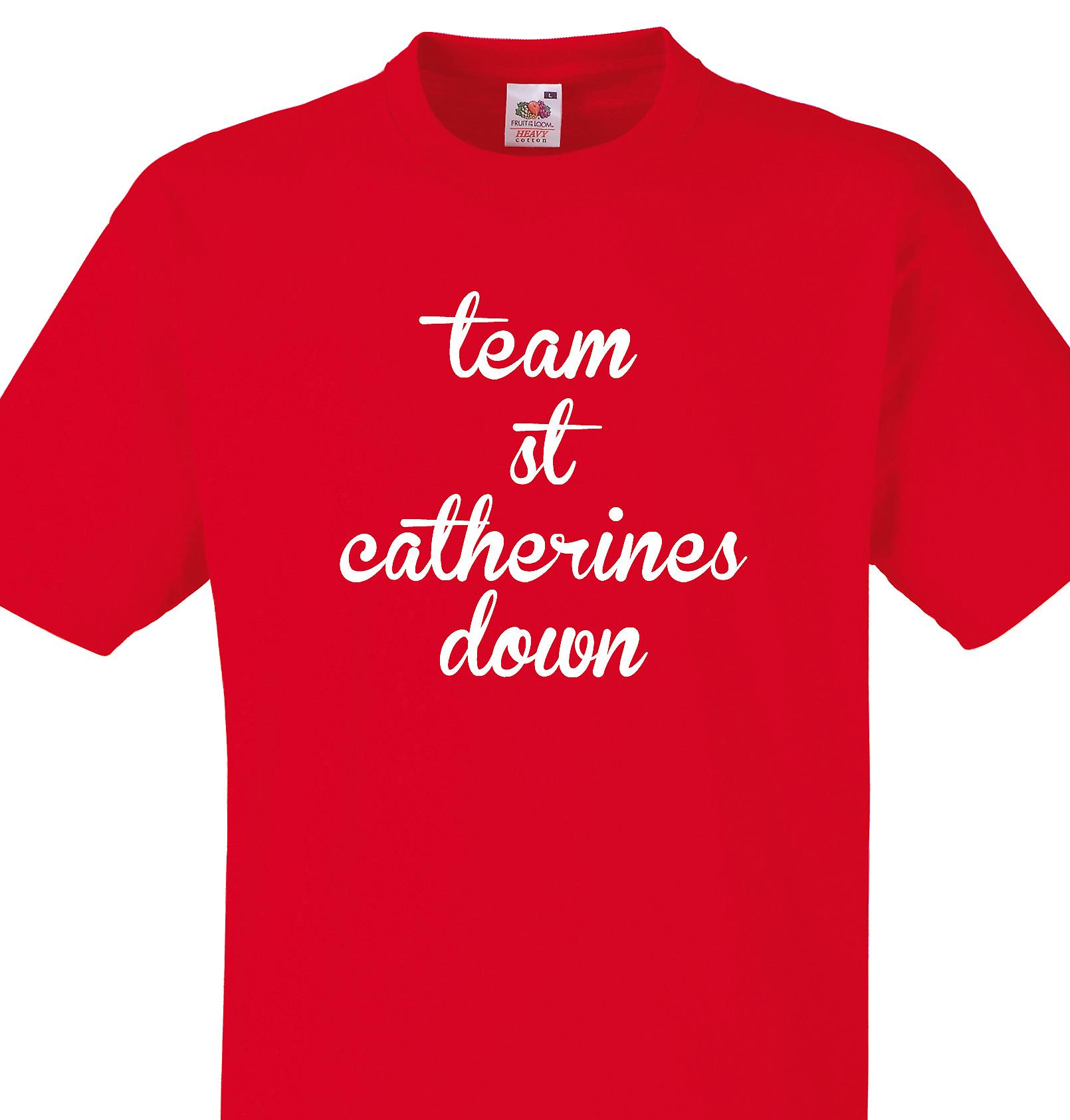 Team St catherines down Red T shirt