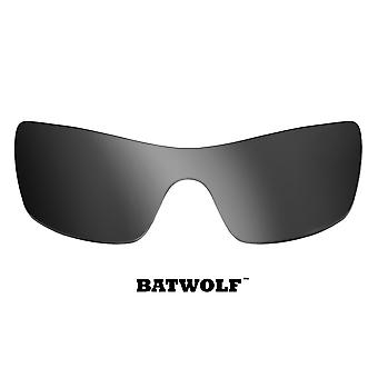 Batwolf Replacement Lenses Polarized Silver Mirror by SEEK fits OAKLEY