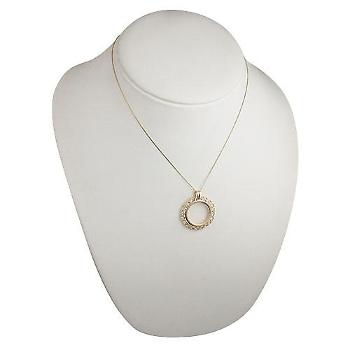 9ct Gold 30mm Full Sovereign mount with pierced hearts edge Pendant with a curb chain