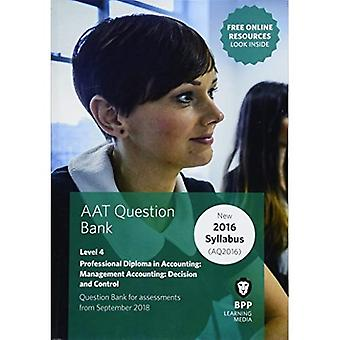 AAT Management Accounting Decision & Control: Question Bank