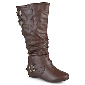Journee Collection Womens Tiffany Almond Toe Mid-Calf Fashion Boots