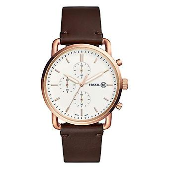 Fossil watch Chronograph quartz men's watch with leather FS5476