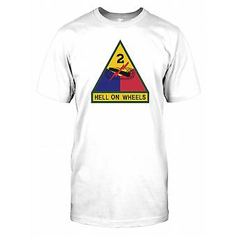 2: a armoured Division Insignia - Hell on Wheels Kids T Shirt
