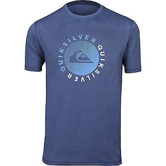 Quiksilver Mens rakhyvlar SS UPF 50 surfa Tee Shirt - Dark Denim Heather