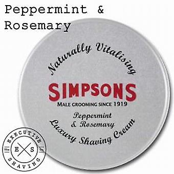 Simpsons lusso crema da barba menta piperita e rosmarino (125ml)