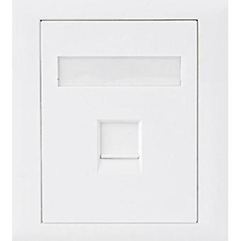 CAT6 RJ45 Wall Face Plate 86x86mm Socket Kit