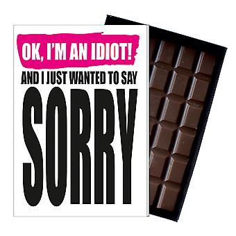 Gåva att säga ledsen ursäkt närvarande boxed choklad gratulationskort för att be om ursäkt IYF199