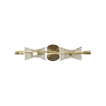 Mantra Kromo Wall Lamp Switched 2 Light G9, Antique Brass