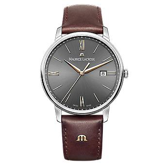 Maurice LaCroix Eliros Brown Leather Strap Grey Dial Ladies Watch