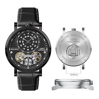 Carlo Cantinaro CC1004GL009 Men's Watch Quartzmatic GMT