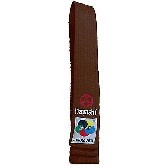 Hayashi WKF Karate Belt Brown