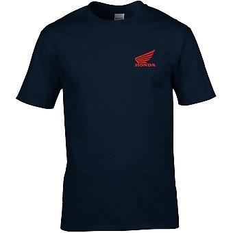 Honda Car Embroidered Logo - Cotton Premium T-Shirt