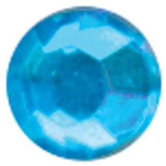 Crystal Stickers Elements 76 Pkg Round  Turquoise 16Cs 2555