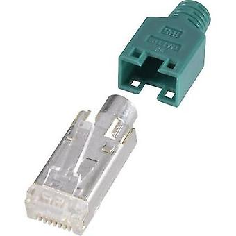 Hirose Electronic RJ45 Shielded Network Connector, Green RJ45 Plug, straight Green