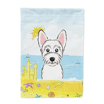 Westie Summer Beach Flag Garden Size BB2094GF
