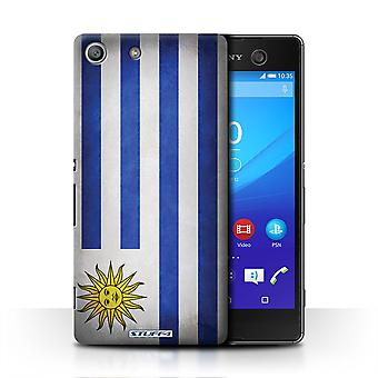 STUFF4 Case/Cover for Sony Xperia M5/Uruguay/Uruguayan/Flags