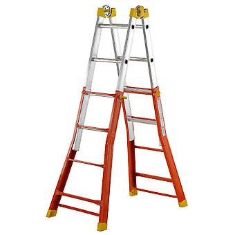 Gierre Telescoping ladder EN131 Mixed Peppina (5 + 5 Treads)