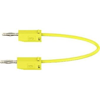 Test lead [ Banana jack 2 mm - Banana jack 2 mm] 0.60 m Yellow MultiContact LK205
